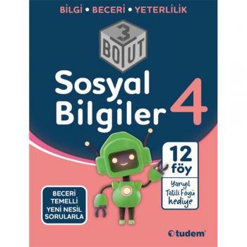 4. Sınıf Sosyal Bilgiler 3 Boyut Soru Bankası Tudem Yayınları