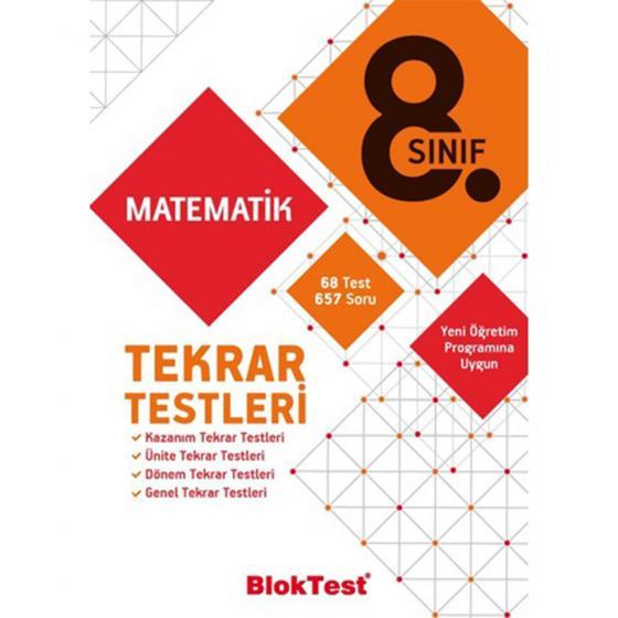 8.Sınıf Matematik Tekrar Testleri Blok Test Yayınları