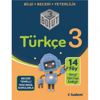 3. Sınıf Türkçe 3 Boyut Soru Bankası Tudem Yayınları