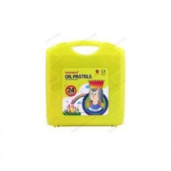 Monamı Pastel Boya Takımı Plastik Çantalı 24 Renk    KUTU RENKLERİ (MAVİ-SARI-PEMBE)