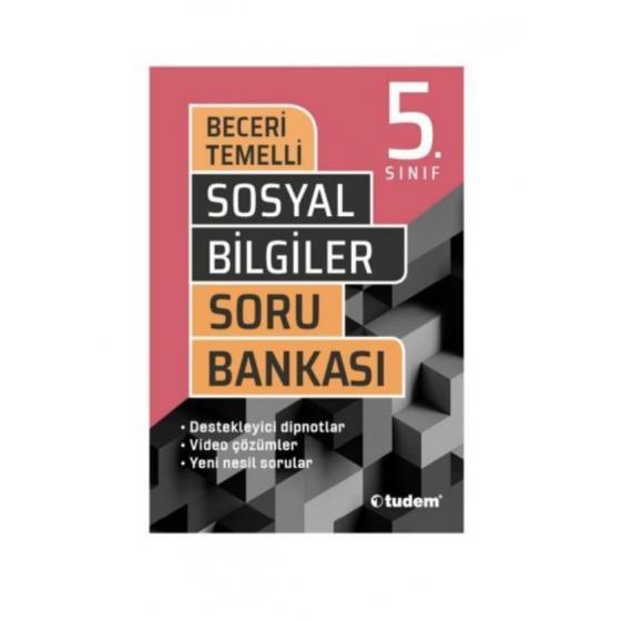 5. Sınıf Sosyal Bilgiler Beceri Temelli Soru Bankası Tudem Yayınları