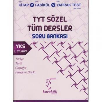 TYT Sözel Tüm Dersler Soru Bankası Karekök Yayınları
