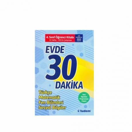 Tudem Evde 30 Dakika Türkçe Matematik Fen 4. SINIF