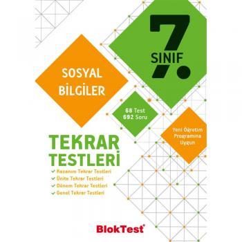 7.Sınıf Sosyal Bilgiler Tekrar Testleri Blok Test Yayınları
