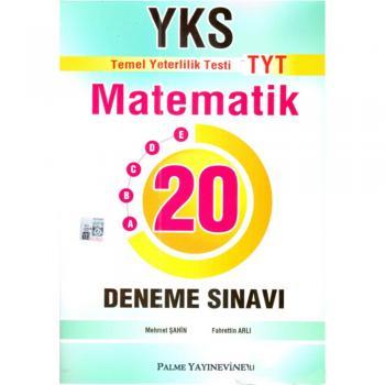 YKS TYT Matematik 20 Deneme Sınavı Palme Yayınevi