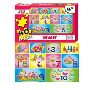 Joho Toys Sayılar 40 Parça 4+ YAŞ  Puzzle Joho Toys Komisyon Joho Toys