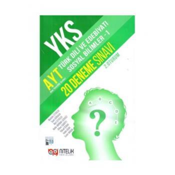 AYT Türk Dili ve Edebiyatı Sosyal Bilimler 1 20 Deneme Sınavı Nitelik Yayınları
